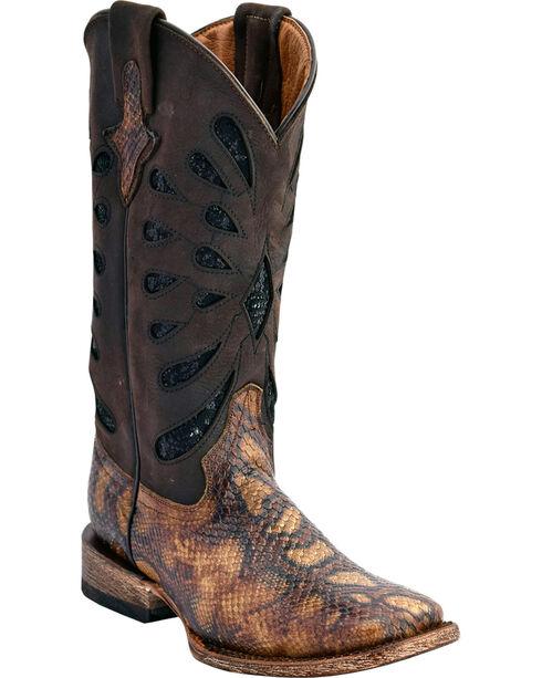 Ferrini Women's Snake Print Western Boots - Square Toe, , hi-res
