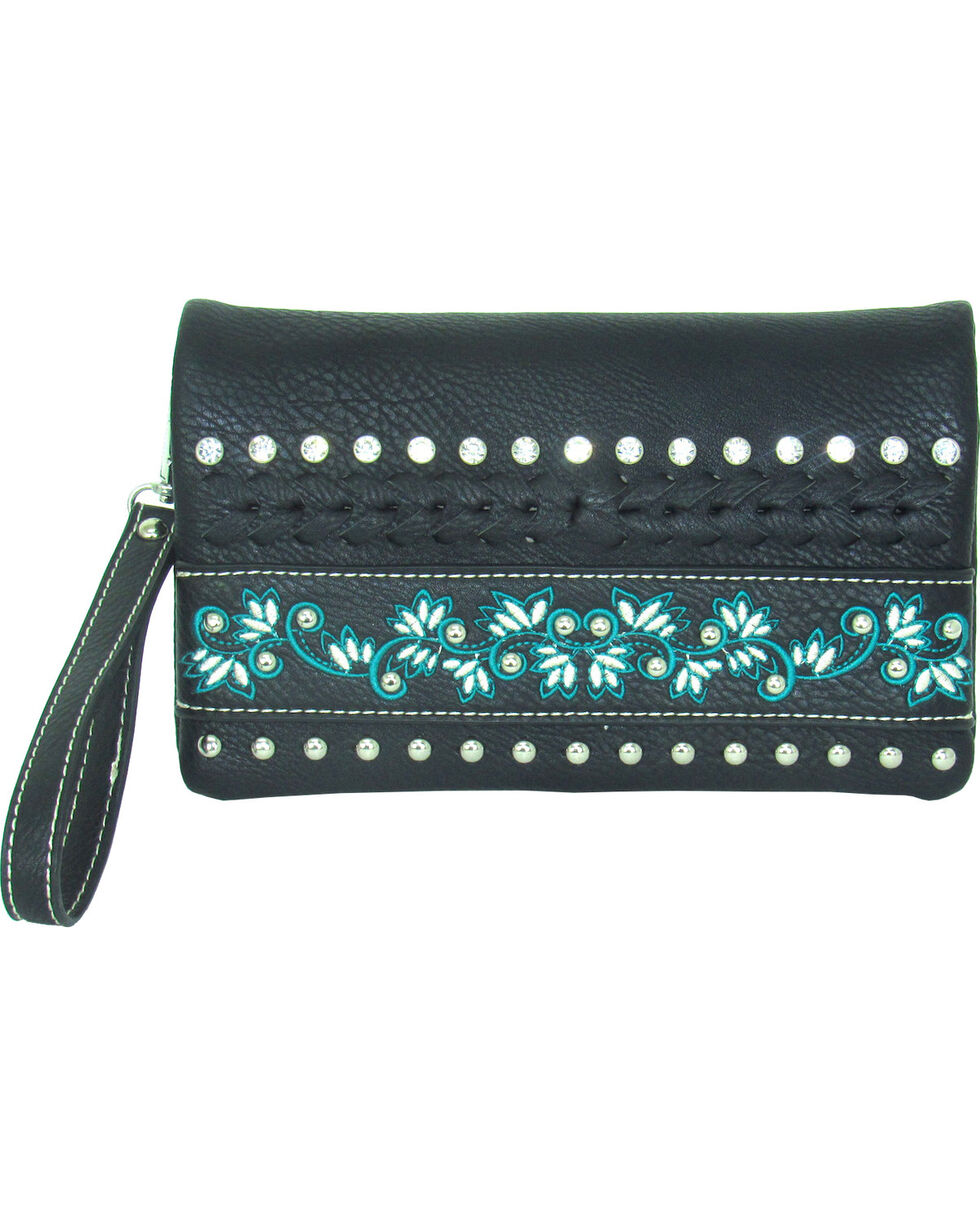 Savana Women's Faux Leather Embroidered Crossbody , , hi-res