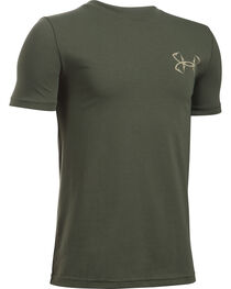 Under Armour Boy's Green Big Mouth Strike T-Shirt , , hi-res