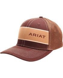 Ariat Men's Brown Word Mark Mesh Baseball Cap , , hi-res