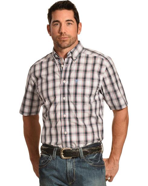 Ariat Men's Performance Fitted Elizar Short Sleeve Western Shirt, Multi, hi-res