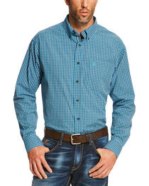 Ariat Men's Blue Reed Long Sleeve Shirt  - Big and Tall, , hi-res