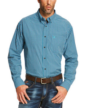 Ariat Men's Blue Reed Long Sleeve Shirt  - Big and Tall, Blue, hi-res