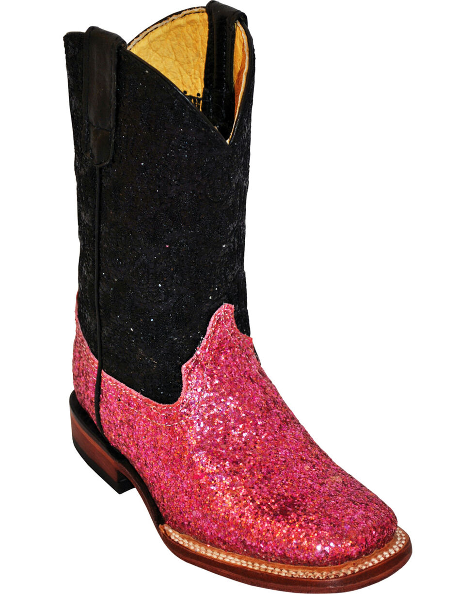 Ferrini Girls' Pink Pixie Dust Cowgirl Boots - Square Toe, Multi, hi-res