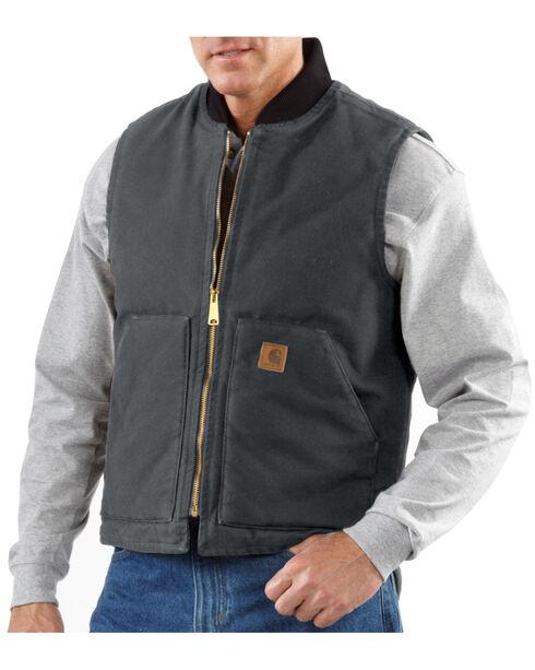 Carhartt Men's Sandstone Arctic Quilt Lined Vest, Dark Grey, hi-res