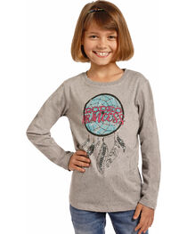 Rock & Roll Cowgirl Girls' Rodeo Princess Dream Catcher Tee, , hi-res