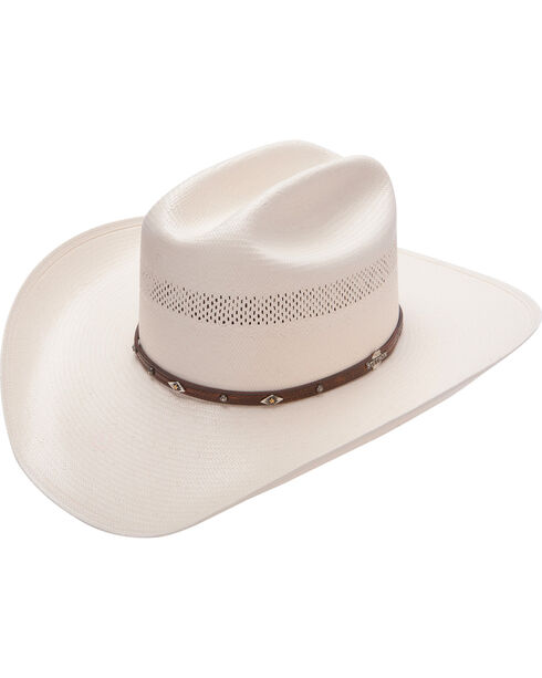 Stetson Lobo 10X Straw Cowboy Hat, Natural, hi-res