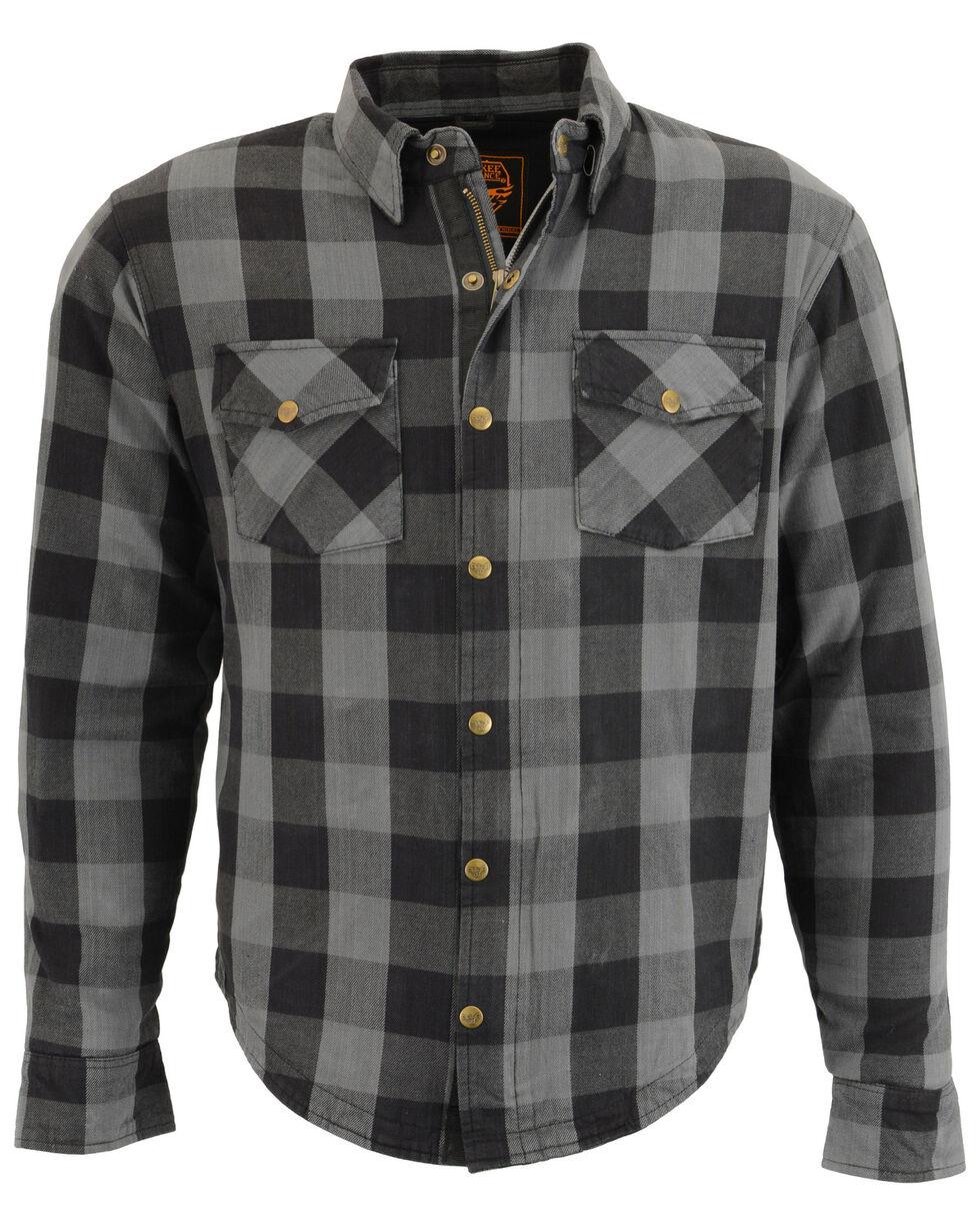 Milwaukee Performance Men's Aramid Checkered Plaid Biker Shirt - 3X, Dark Grey, hi-res