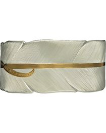 Montana Silversmiths Women's Feather Cuff Bracelet, , hi-res
