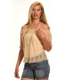 Tantrums Women's Lace Peasant Top, , hi-res