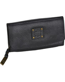 STS Ranchwear Black Cassie Joh Trifold Wallet , , hi-res
