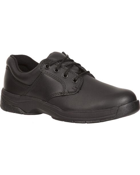 Rocky Women's Slip Stop Oxford Duty Shoes, Black, hi-res