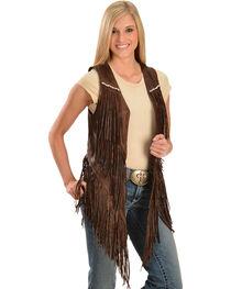 Kobler Leather Women's Yucaipa Fringe & Rhinestone Leather Vest, , hi-res