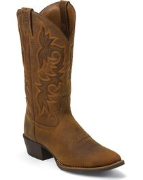 Justin Men's Buffalo Round Toe Western Boots, , hi-res