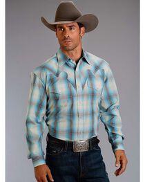 Stetson Men's Plaid Western Long Sleeve Shirt, , hi-res