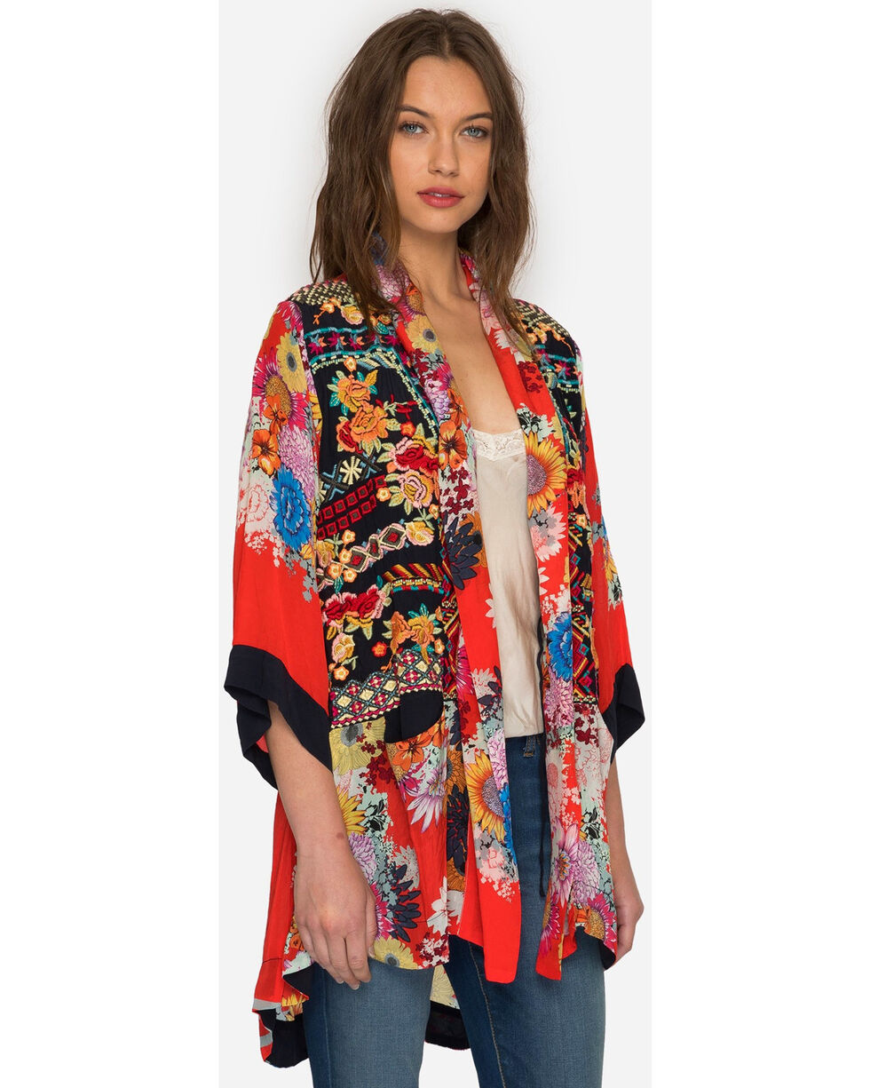 Johnny Was Women's Mishka Rose Embroidered Kimono , , hi-res