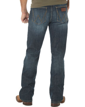 Wrangler Retro Slim Fit Dark Wash Boot Cut Jeans - Big and Tall, Indigo, hi-res