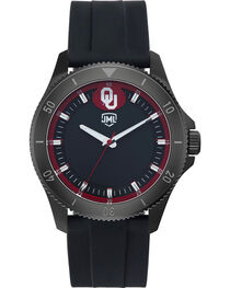 Jack Mason Men's Blackout Oklahoma Silicone Watch , , hi-res