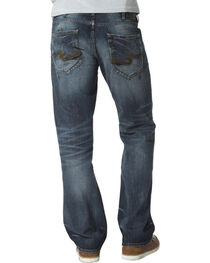 Silver Jeans Men's Zac Relaxed Fit Straight Leg Medium Wash Jeans, , hi-res