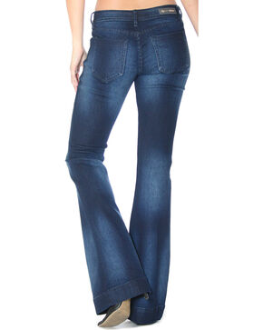 Grace in LA Women's Indigo Simple Trousers - Flare , Indigo, hi-res