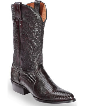 Dan Post Men's Raleigh Teju Lizard Exotic Boots, Black Cherry, hi-res
