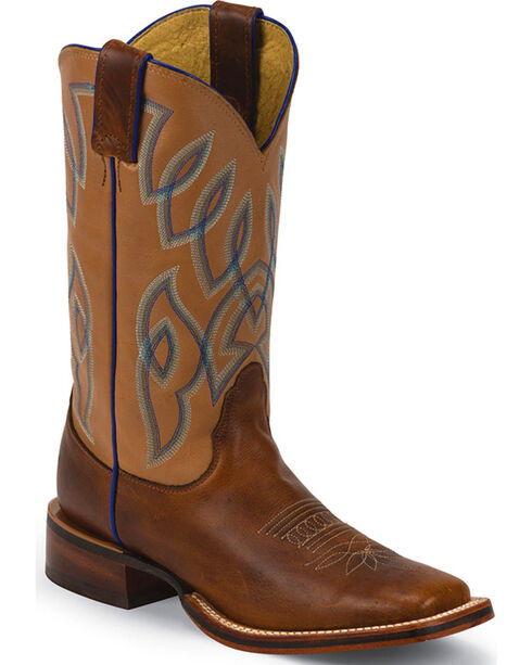 Nocona Women's Sqaure Toe Western Boots, Brown, hi-res