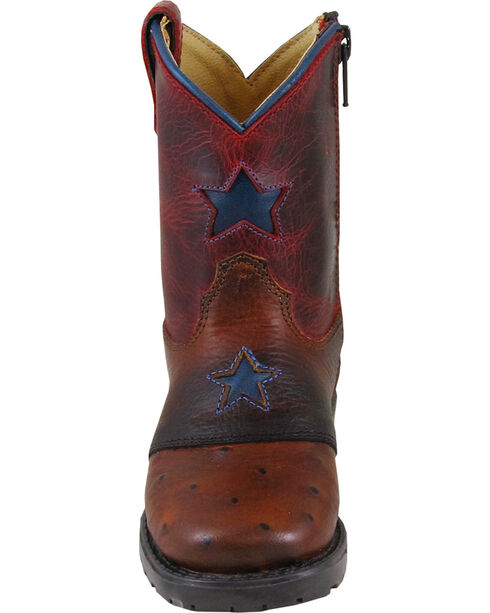 Smoky Mountain Toddler Boys' Autry Star Inlay Cowboy Boots - Square Toe, Cognac, hi-res