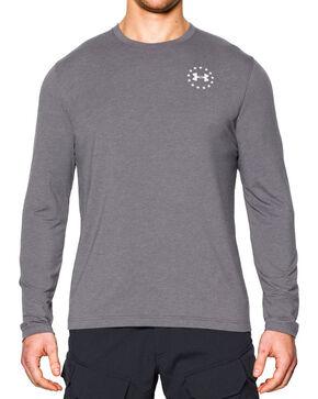 Under Armour Men's HeatGear Long Sleeve Shirt, Dark Grey, hi-res
