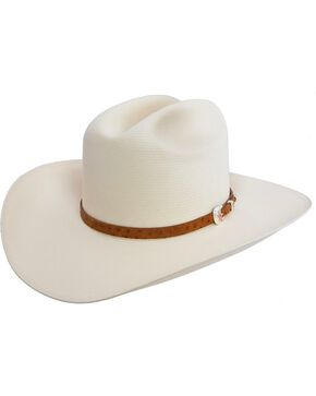Stetson El Noble 500X Straw Cowboy Hat, Natural, hi-res