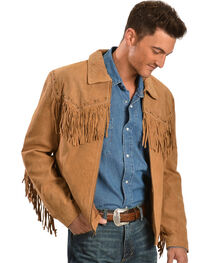 Scully Men's Boar Suede Fringe Jacket, , hi-res