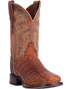 Dan Post Men's Denver Caiman Exotic Boots, Cognac, hi-res