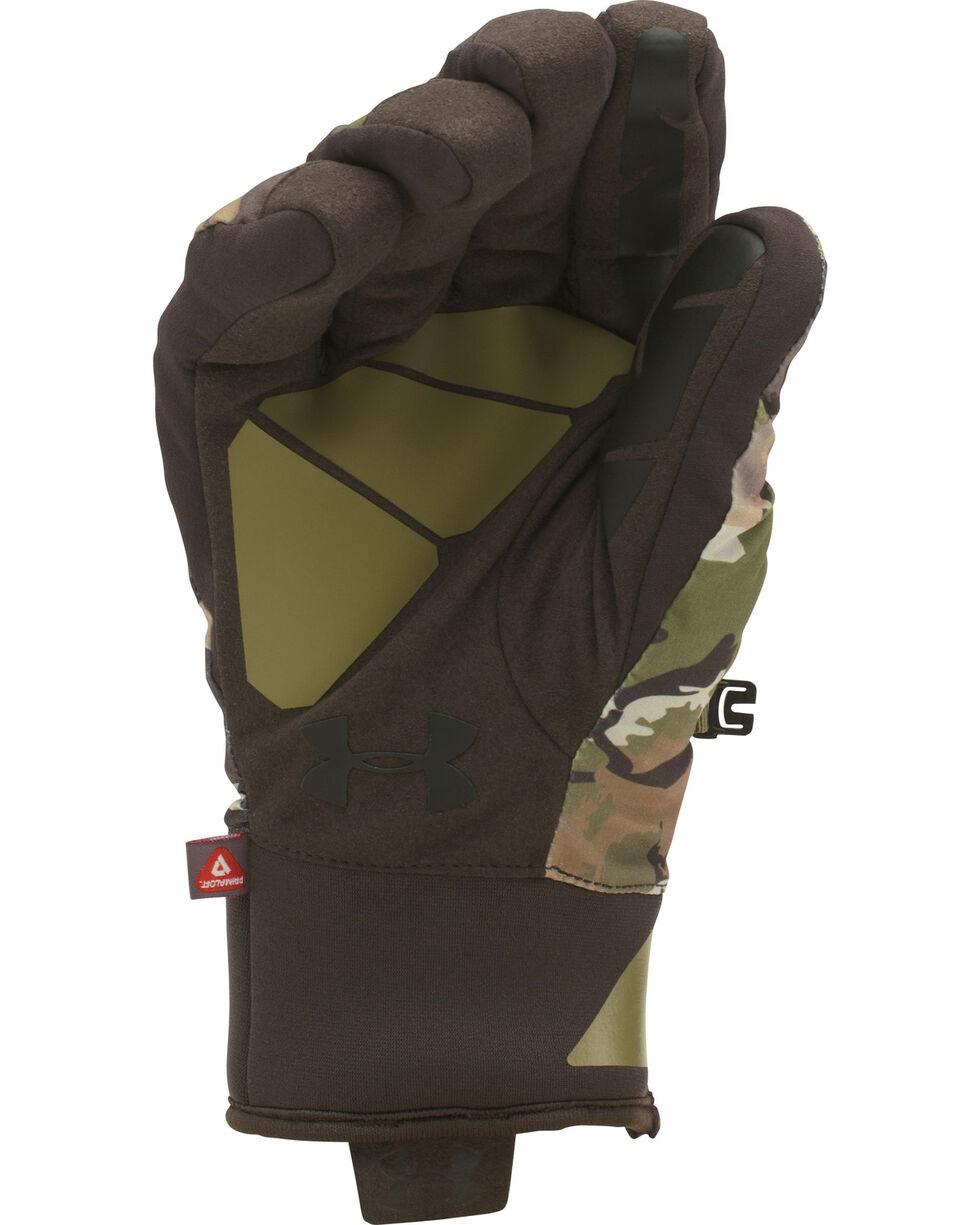 Under Armour Men's Forest Camo Scent Control 2.0 Primer Gloves , Camouflage, hi-res