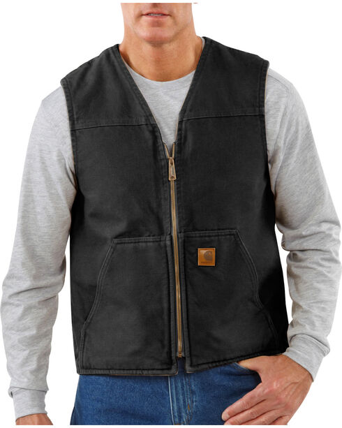 Carhartt Men's Rugged Vest, Black, hi-res