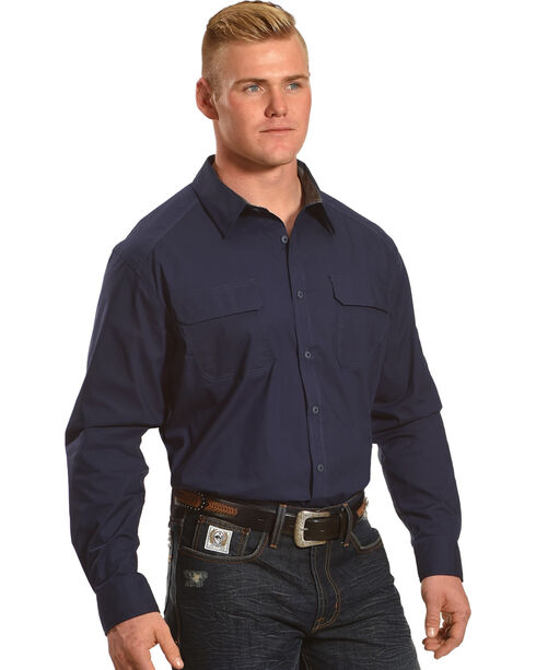 American Worker Men's Tier 1 Performance Solid Shirt   , Navy, hi-res