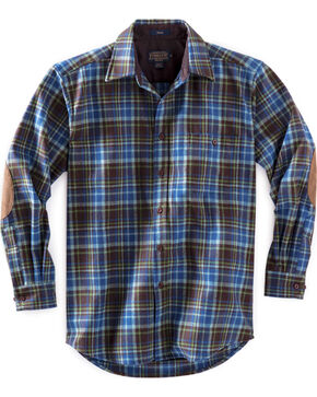 Pendleton Men's Brown and Green Plaid Trail Shirt , Brown, hi-res