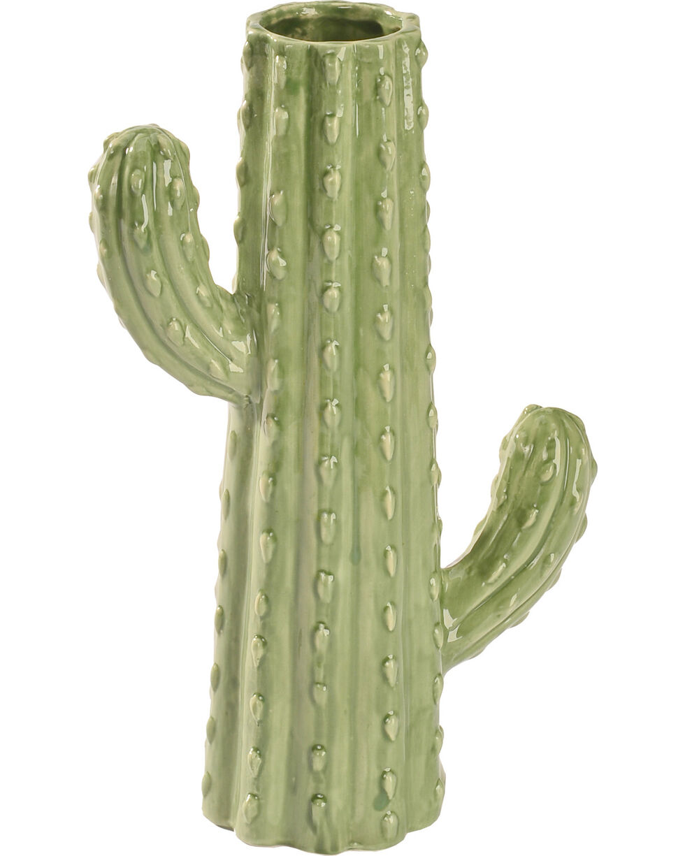 "BB Ranch 10"" Cactus Vase , Turquoise, hi-res"