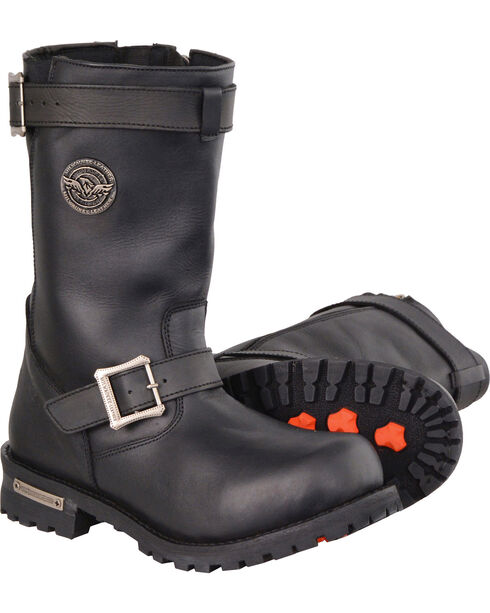"""Milwaukee Leather Men's 11"""" Classic Engineer Boots - Wide, Black, hi-res"""
