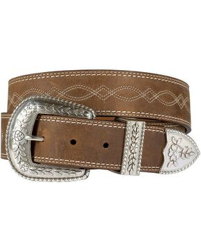 Ariat Women's Western Leather Belt, Distressed, hi-res