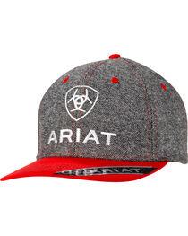 Ariat Men's Grey & Red Logo Cap, , hi-res