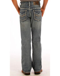 Rock & Roll Cowboy Boys' Embroidered Faded Boot Cut Jeans, , hi-res