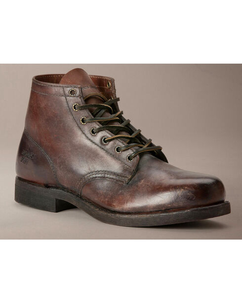 Frye Men's Prison Boots, Dark Brown, hi-res