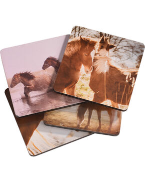 BB Ranch Printed Horse Coasters, No Color, hi-res