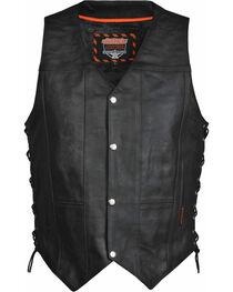 Interstate Leather Men's Justice Motorcycle Vest, , hi-res
