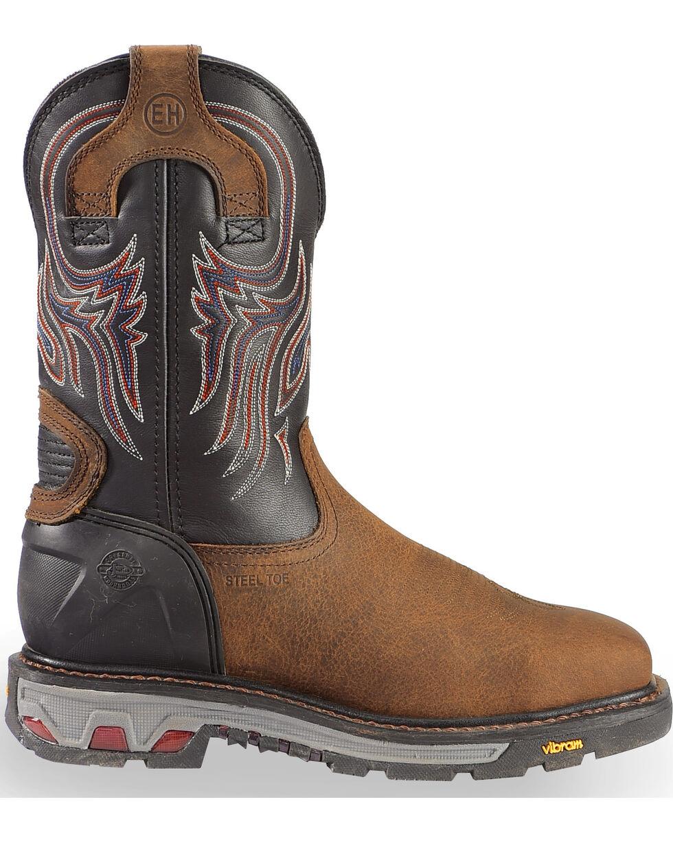 Justin Men's Commander 5X Steel Toe Western Work Boots, Timber, hi-res