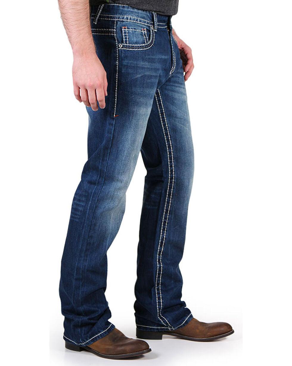 Realtree Men's Faded Boot Cut Jeans, , hi-res