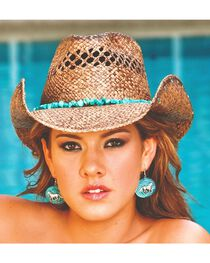 Bullhide Women's Year Of Summer Straw Hat, , hi-res