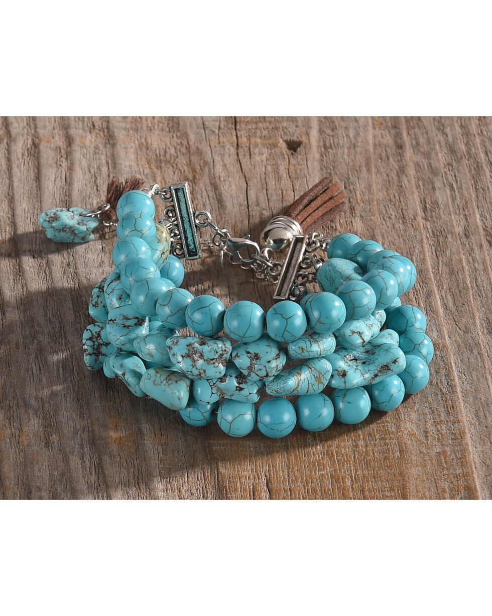 Lost & Found Women's Turquoise Strands Bracelet , Turquoise, hi-res