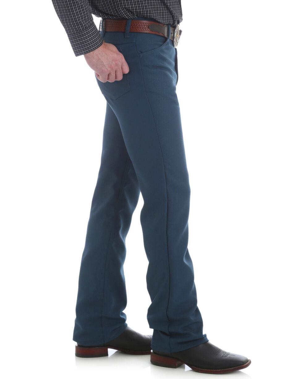 Wrangler Men's Regular Fit Dress Jeans - Tall , Teal, hi-res