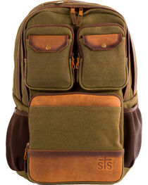 STS Ranchwear Foreman Military Green Canvas Backpack, , hi-res