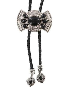 Shyanne® Concho Bolo Tie Necklace, Black, hi-res